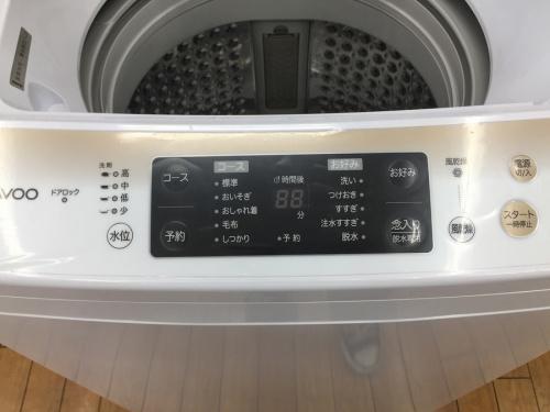 簡易乾燥機能付洗濯機のDaewoo