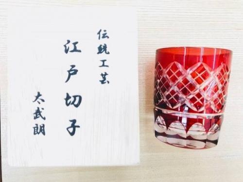 江戸切子のカットグラス