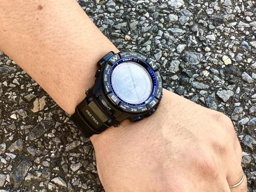 腕時計のCASIO カシオ プロテック