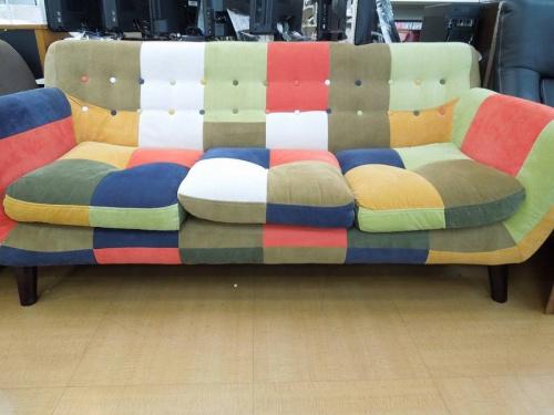 パッチワークのソファー