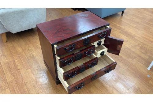 和家具・時代家具の小ぶり収納車箪笥