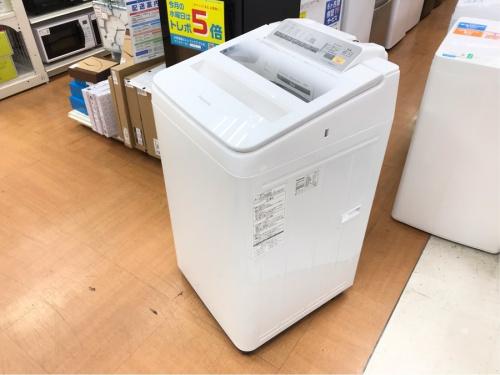 家事家電の開閉上開きタイプ洗濯機