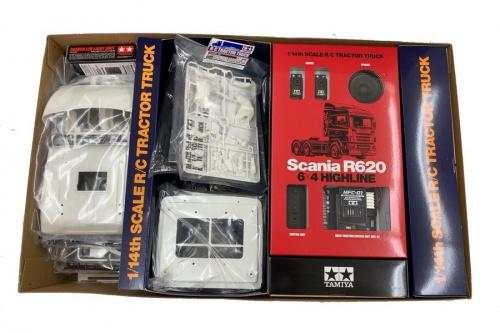 プラモデルの1/14 電動RC組立キット スカニア R620 6×4 ハイライン フルオペレーションセット