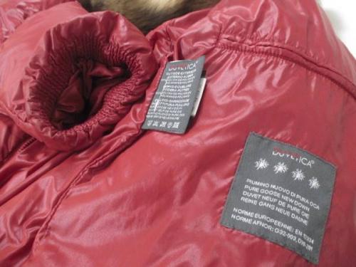 ジャケットのDUVETICA