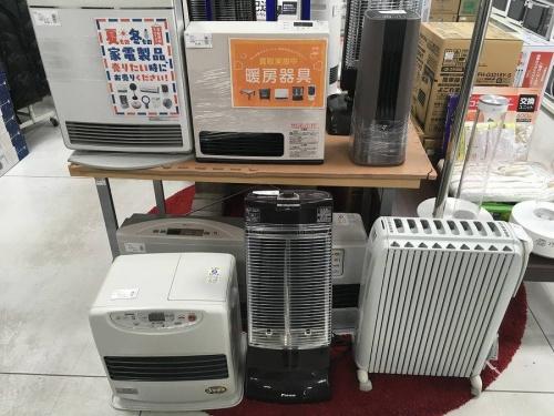 暖房器具 中古の暖房器具 買取強化中