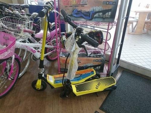 スケートボードの折りたたみ自転車