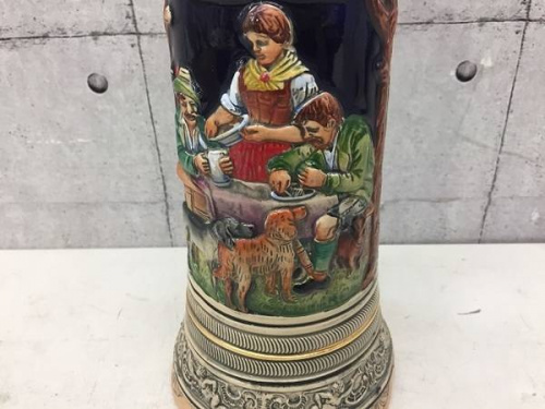 アンティーク雑貨のビアマグカップ型オルゴール