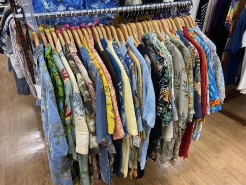 シャツ 夏物買取 夏物買取強化 夏物衣類のTシャツ ポロシャツアロハシャツ 柄シャツ 半袖シャツ