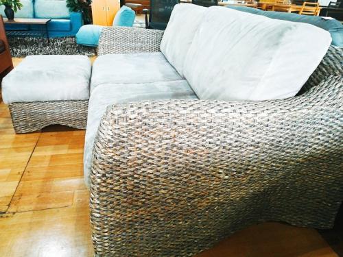 2人掛けソファーのウォーターヒヤシンス