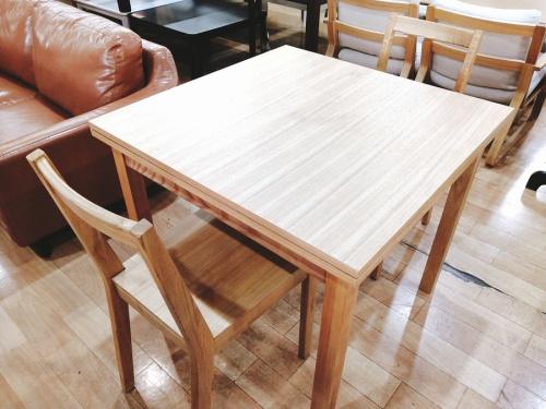 生活家具 テーブルのダイニングテーブル ダイニングセット エクステンション 無垢材テーブル