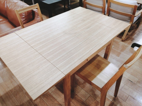 ダイニングテーブル ダイニングセット エクステンション 無垢材テーブルの無印良品 MUJI
