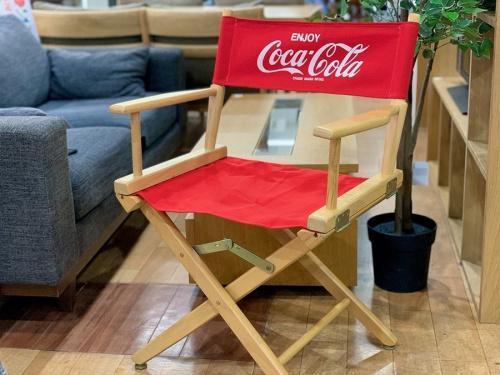コカコーラのアウトドアチェア