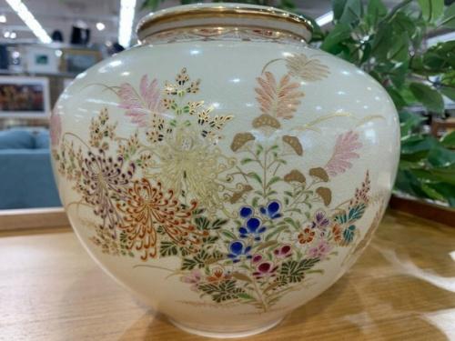 花瓶の薩摩焼