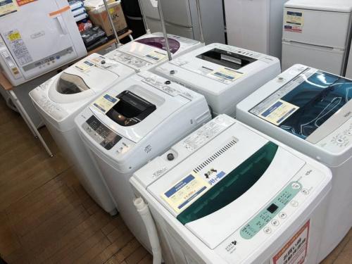 生活家電の洗濯機 中古