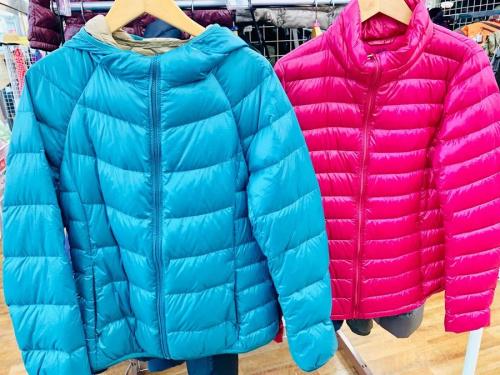 ダウン ジャケット コートの古着 衣類
