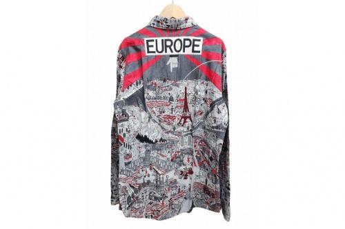 総柄アーティストシャツのtadanori yokoo&bohemians