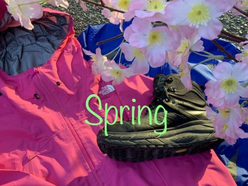 アウトドアの春物