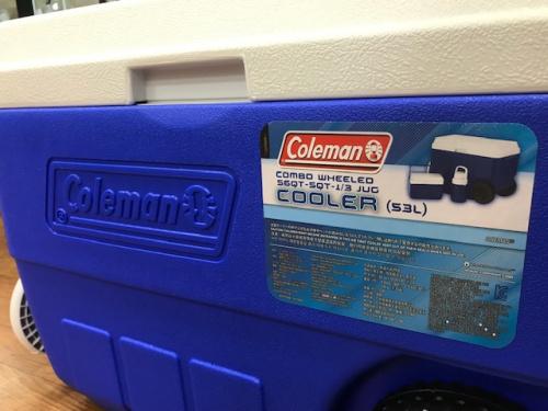 Colemanのクーラーボックス