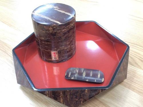 和食器の桜皮細工