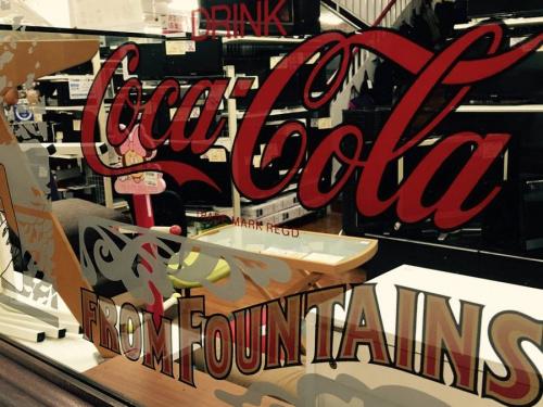 コカコーラのミラー