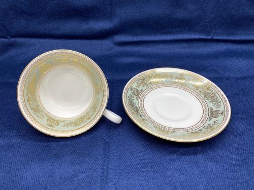 洋食器のカップ&ソーサー コロンビアセージグリーン