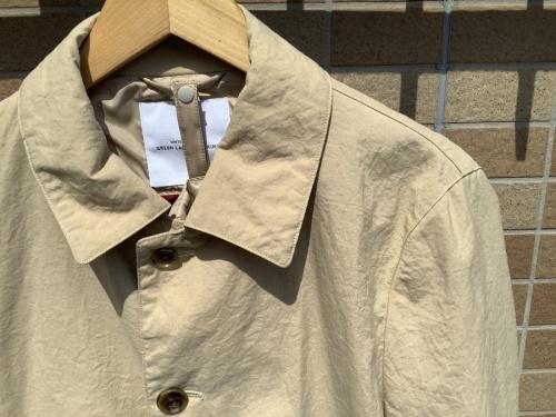 コートのナイロンオックスステンカラーコート
