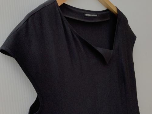 強撚ギャバフラシ布付きドレスのyohji yamamoto+Noir