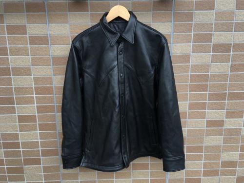ジャケットのレザーウエスタンジャケット