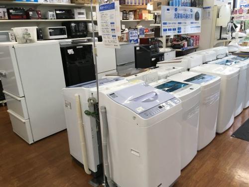 夏物家電の冷蔵庫 洗濯機