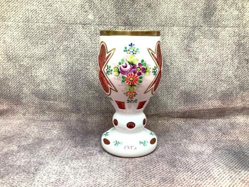 フラワーベース 花瓶のBohemia ボヘミアガラス