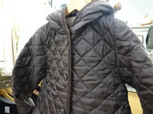 メンズファッションのキルティングコート