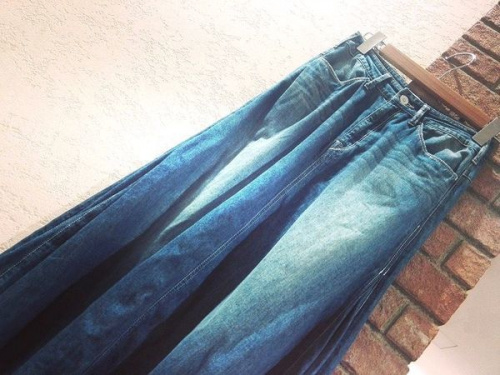 スカートのデニムマキシスカート