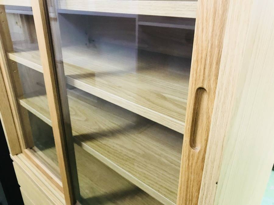 家具・インテリアの練馬店家具・インテリア 無印良品 オーク材食器棚 ...