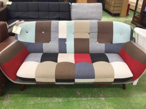 ソファーのパッチワーク