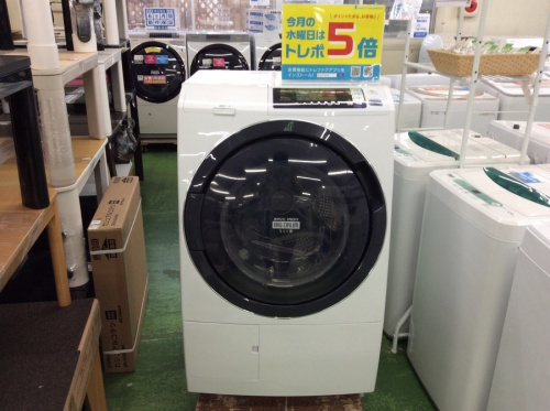 生活家電のドラム式洗濯乾燥機