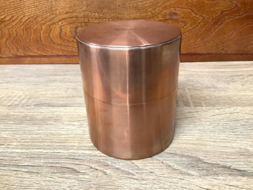和食器の銅製茶筒