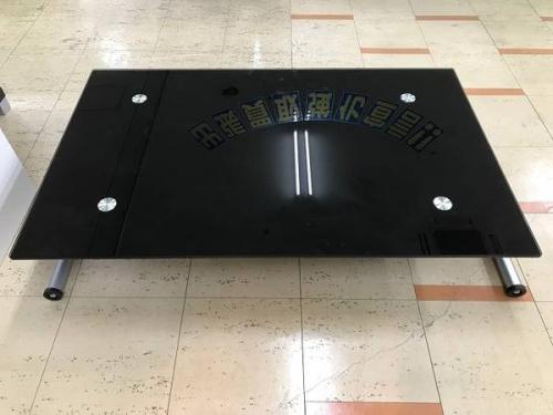 ガラステーブルの昇降式テーブル