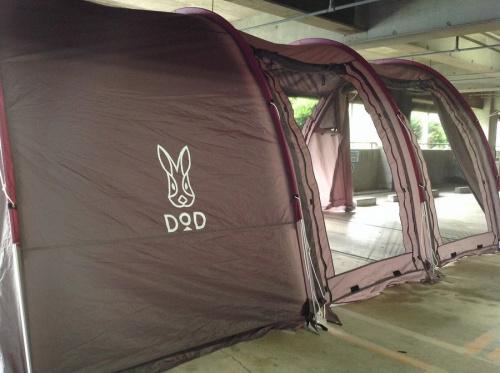 2ルームテントのカマボコテント