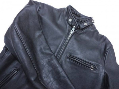 メンズファッションのシングルライダースジャケット