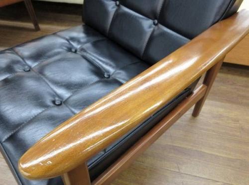 中古 カリモク60 一人掛けソファーの中古ソファー レザー