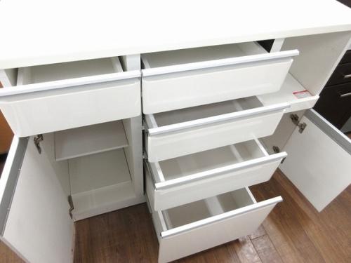 ニトリ キッチンカウンターの中古 食器棚 レンジボード 買取