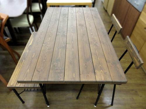 テーブル ダイニング4点セットのベンチ チェア テーブル