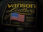 VANSONのレジャージャケット