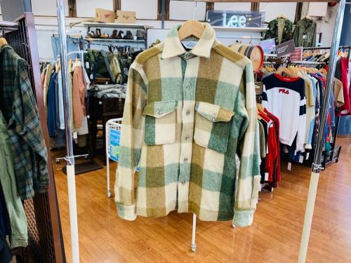 シャツ ジャッケットの70s 60s ウールシャツ