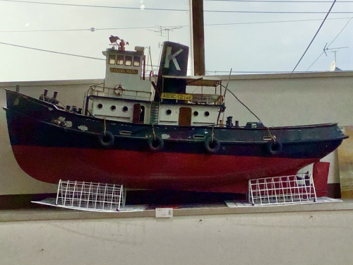 模型の船の模型