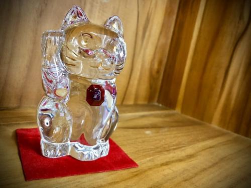 まねき猫 レッドオクトゴンのBaccarat バカラ