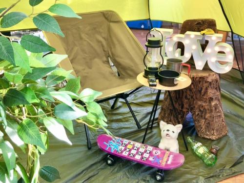 夏 夏休みのキャンプ アウトドア