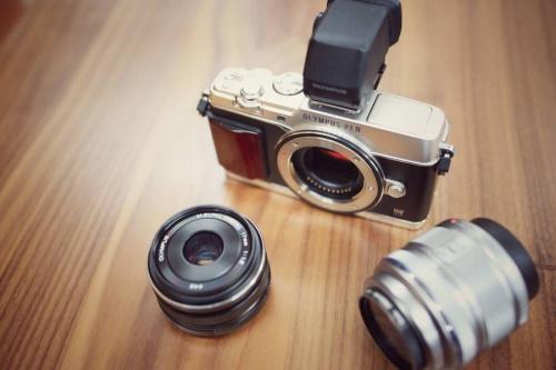 レトロカメラの単焦点レンズ