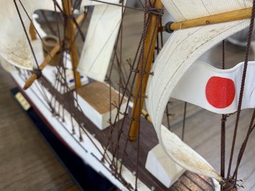 木製帆船の幕張