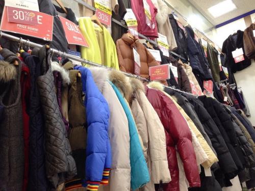 リサイクルショップ 宇治の冬物衣類